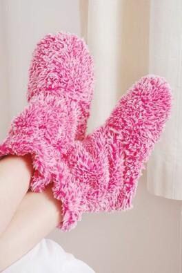 Voňavé nahřívatelné papuče, růžová