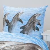 Bavlněné povlečení Delfíni, 140 x 200 cm, 70 x 90 cm