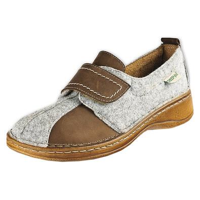 Orto Plus Dámská obuv na suchý zip vel. 41 hnědá
