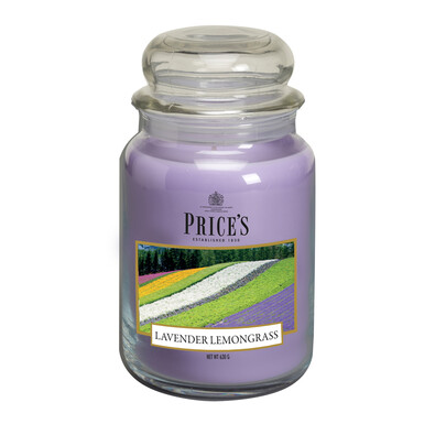 Price's Vonná sviečka v skle Large Jar Lavender & Lemongrass