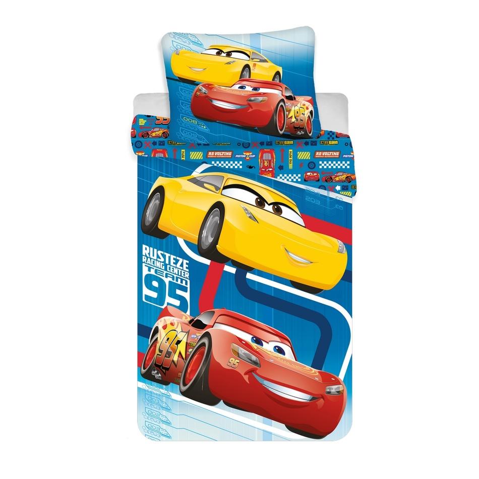 Jerry Fabrics Povlečení Cars blue 02 140x200 70x90