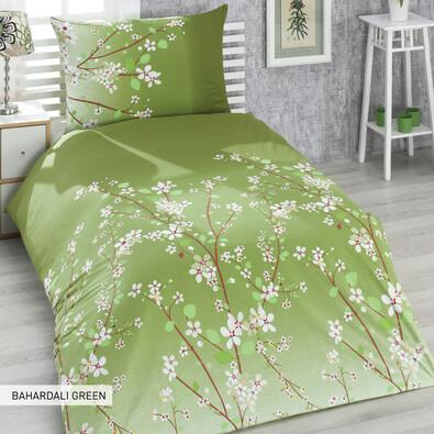 Bavlněné povlečení Bahardali Green, 140 x 200 cm, 70 x 90 cm