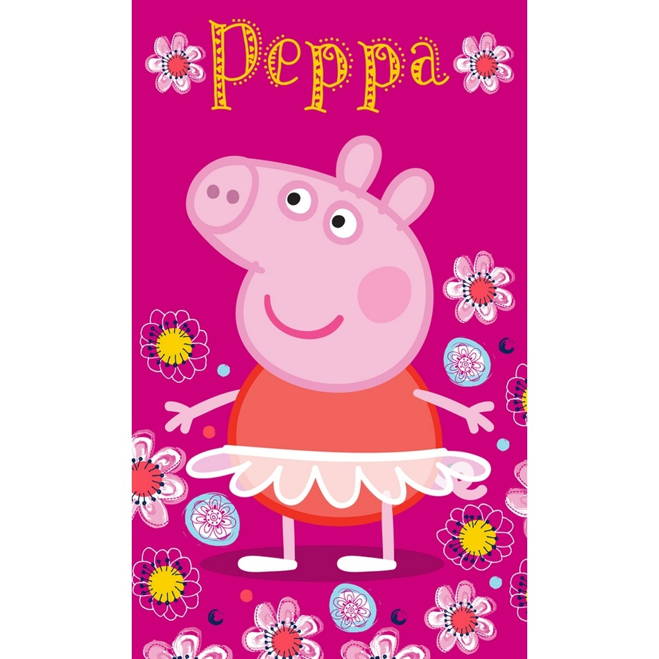 BedTex Dětský ručník Prasátko Peppa Baletka, 30 x 50 cm