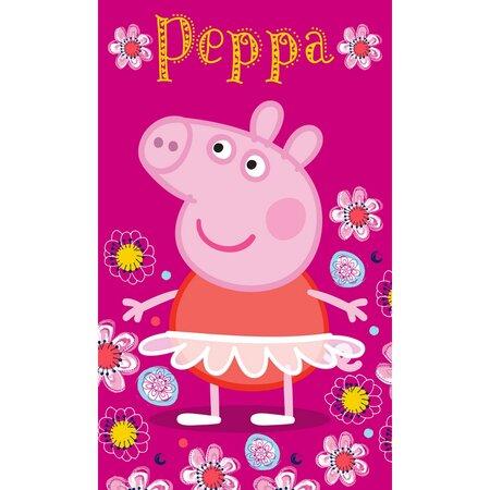 Detský uterák Prasiatko Peppa Baletka, 30 x 50 cm