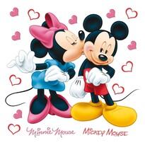 Minnie és Mickey öntapadó dekoráció, 30 x 30 cm
