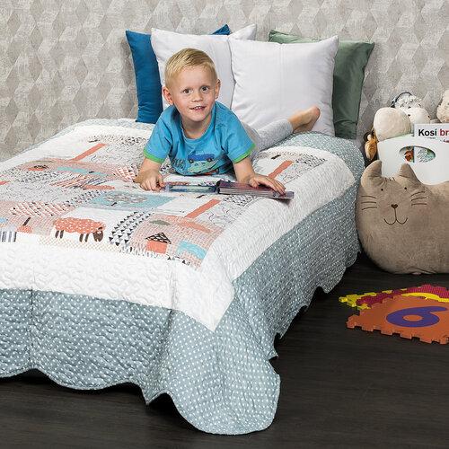 4Home Detský prehoz na posteľ Animals, 140 x 200 cm