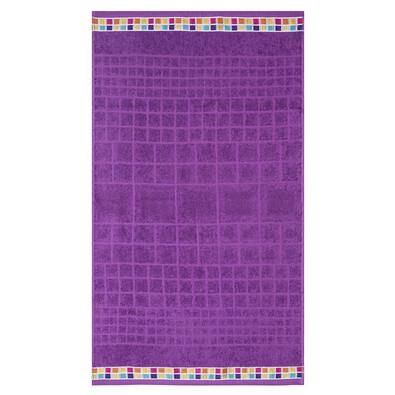 Osuška Mozaik fialová, 70 x 130 cm