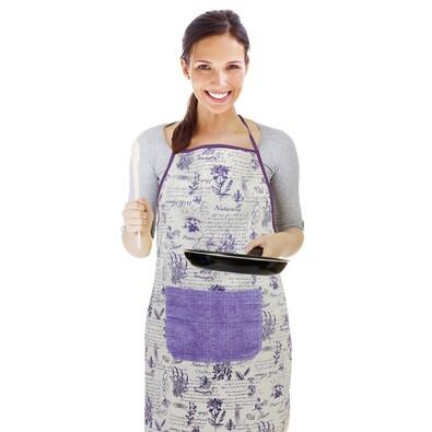 Zástěra Byliny fialová, 67 x 84 cm