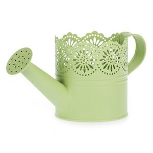 Kovová konvička Lace zelená, pr. 10 cm