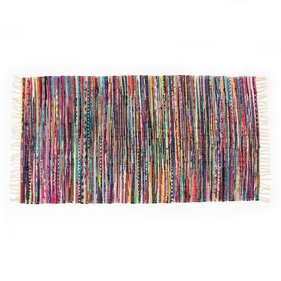 Tkaný koberec barevný, 70 x 140 cm