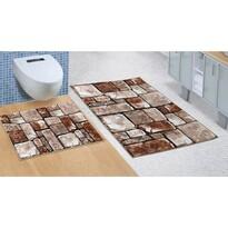 Bellatex Sada kúpeľňových predložiek bez výkroja Kamenná dlažba 3D, 60 x 100 cm, 60 x 50 cm
