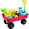 Dětský zahradní vozík s příslušenstvím, červená