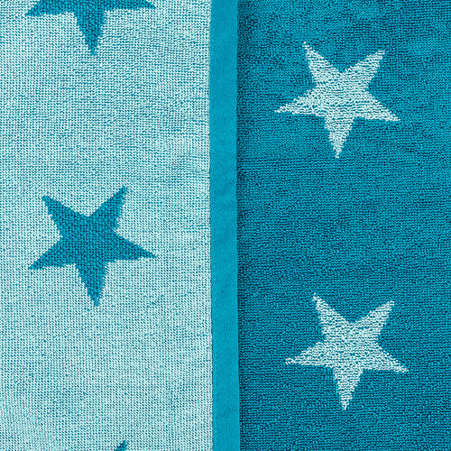 Prosop Stars, turcoaz, 70 x 140 cm