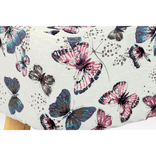 Taburet Motýľ, biela