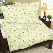 Lenjerie de pat, din flanelă, Bellatex Măceș, 140 x 200 cm, 70 x 90 cm