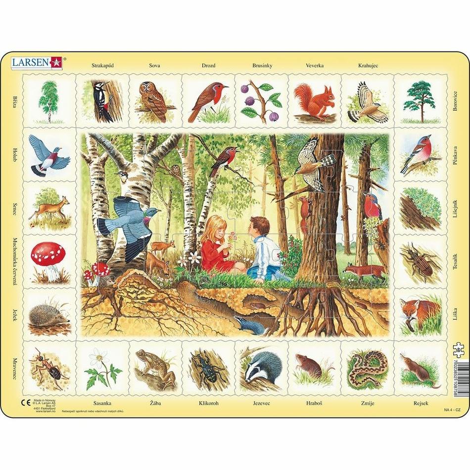 Larsen Puzzle Život v lese, 48 dílků