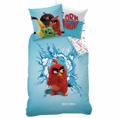 Lenjerie de pat pentru copii Angry Brids Red, 140 x 200 cm, 70 x 90 cm