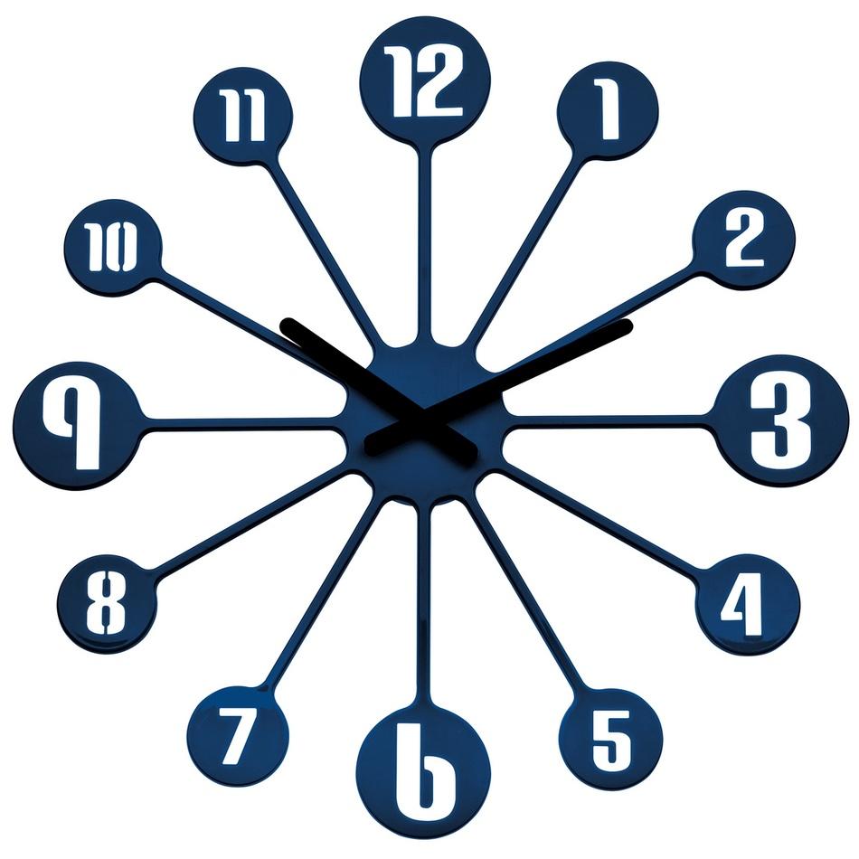 Koziol Nástenné hodiny Pinball modrá, pr. 45 cm
