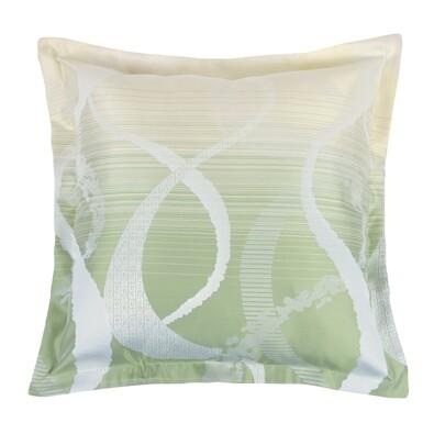 Polštářek Zita oblouky zelená 50 x 50 cm