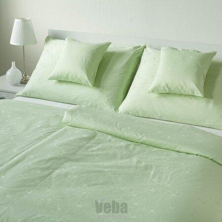 Lenjerie de pat VEBA Damasc Bohema Flori mari,verde, 140 x 220 cm, 70 x 90 cm