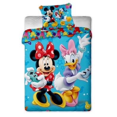 Dětské bavlněné povlečení Mickey a Minnie games, 140 x 200 cm, 70 x 90 cm