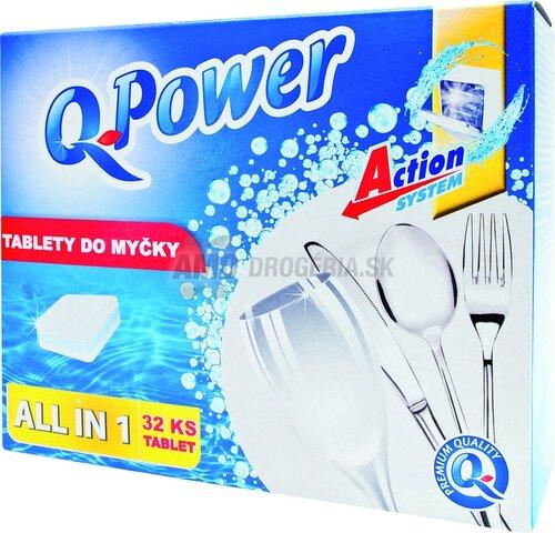 Q Power All in 1 tablety do myčky, 32 ks