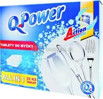 Q Power All in 1 tablety do umývačky, 32 ks