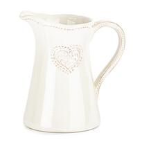 Carafă ceramică Inimă, 1150 ml, roz