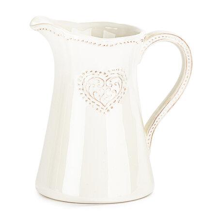 Dzban ceramiczny Serce 1150 ml, różowy