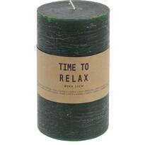 Lumânare decorativă Time to relax, verde, 15 cm