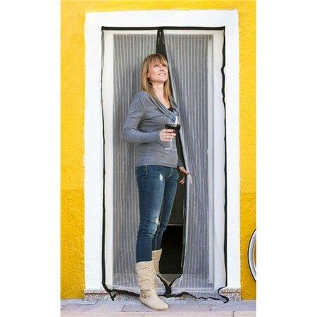 BRILANZ Síť na dveře proti hmyzu 100 x 210 cm, bílá