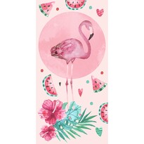 Osuška Růžový Plameňák, 70 x 140 cm