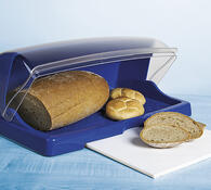 Chlebník s krájecí deskou, bílá