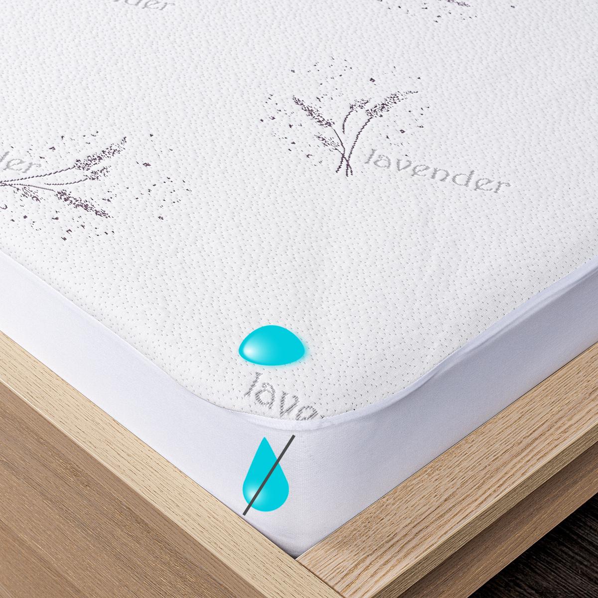 4Home Lavender Nepropustný chránič matrace s lemem, 140 x 200 cm