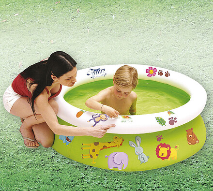 Nafukovací bazén s obtisky, Bestway, zelená, pr. 122 cm