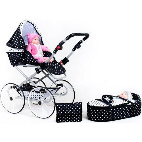 New Baby Kočík pre bábiky Natálka, čiernobiela
