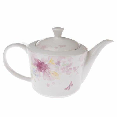 Porcelánová kanvička na čaj Flower, 1,27 l