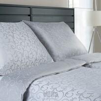 Veba Lenjerie de pat din damasc Ornella Ornament gri/ gri deschis, 140 x 200 cm, 70 x 90 cm