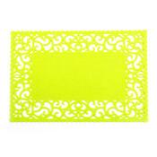 Prestieranie plstené plné zelená, 45 x 30 cm, súprava 4 ks