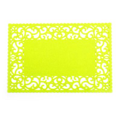 Prostírání plstěné plné zelená, 45 x 30 cm, sada 4 ks