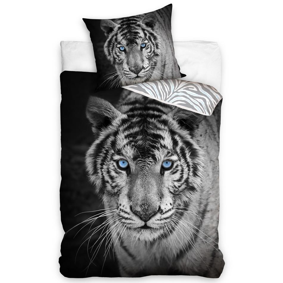 Tiptrade Bavlnené obliečky Tiger Blue Eyes, 140 x 200 cm, 70 x 90 cm