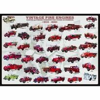 EuroGraphics Puzzle Vývoj hasičských vozů, 1000 dílků
