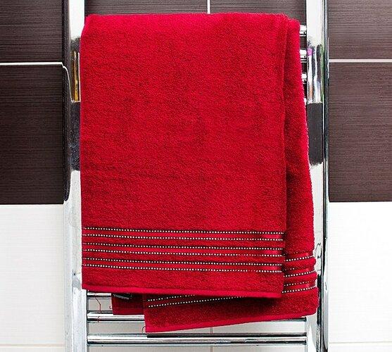 Osuška Cult De Luxe Vossen tmavo červená, 67 x 140 cm