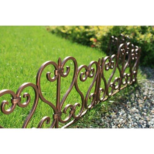 Dekoratívny plot, 2,45 hnedá