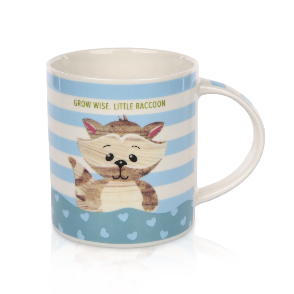 Porcelánový hrnek Little raccoon 280 ml