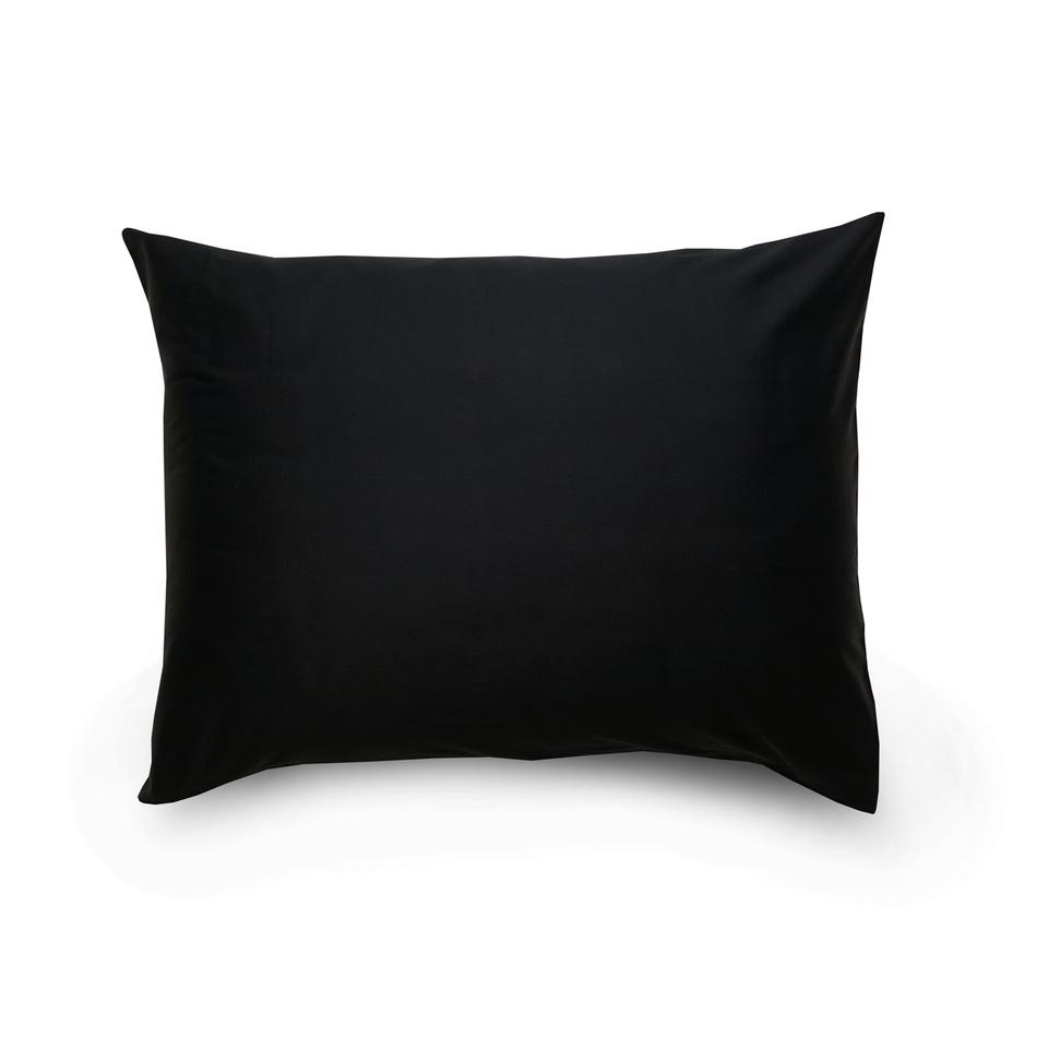 Kvalitex Povlak na polštář satén černá / světle fialová, 70 x 90 cm