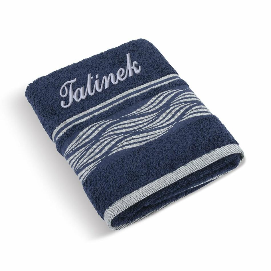 Bellatex Froté ručník 50x100 Vlnka 72/126 s výšivkou Tatínek