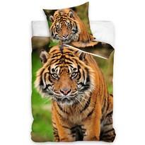 Indiai tigris pamut ágynemű, 140 x 200 cm, 70 x 90 cm