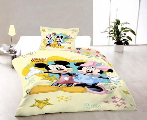 Dětské bavlněné povlečení Mickey a Minnie
