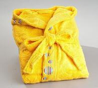 Dámský župan kruhy, žlutý, L / XL